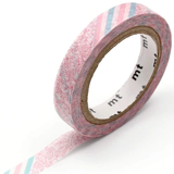 MT Masking tape SLIM pink flower stripe