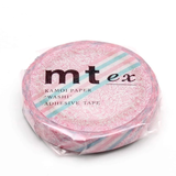 MT Masking tape SLIM pink flower stripe_