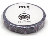 MT Masking tape SLIM arare ni kamon_