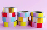 Studio Stationery Washi tape blok roze/rood_