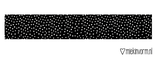 MIEKinvorm Masking tape zwart met kleine witte stipjes_