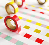 Studio Stationery Washi tape blok roze/rood_