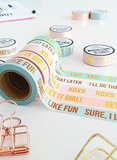 Studio Stationery Washi tape roze XOXO_
