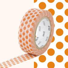 MT Masking tape bruin/oranje stippen