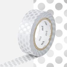 MT Masking tape zilver stippen