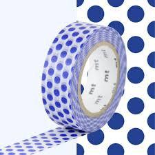 MT Masking tape blauwe stippen