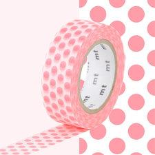 MT Masking tape fel roze stippen