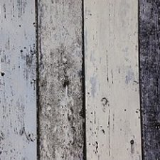 95x140cm Restje tafelzeil steigerhout blauw/grijs