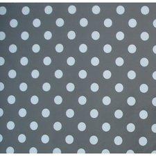 75x140cm Restje tafelzeil donkergrijs met witte stippen