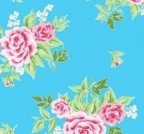 95x140cm Restje tafelzeil Rosy blauw
