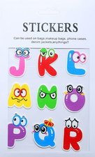 Stickers letters j t/m r