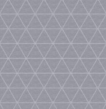 45x140cm Restje linnen tafelzeil triangle grijs (wasbaar)