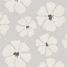 85x140cm Restje tafelzeil grote bloemen grijs