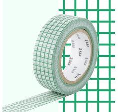 MT Masking tape ruitjes emerald groen