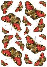 Fietsstickers vlinders rood