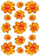 Fietsstickers Dahlia bloemen oranje