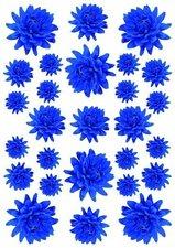 Fietsstickers bloemen kleine dahlia donkerblauw