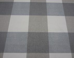 40x140cm Restje tafelzeil blokken grijs/blauw