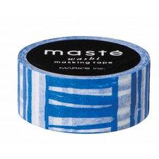 Washi tape Masté marine blauw gestreept