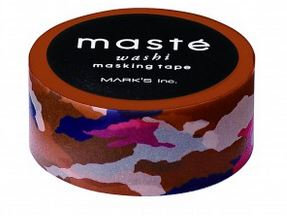 Masking tape Masté camouflage bruin