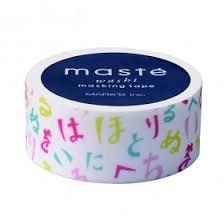 Masking tape Masté multicolor Japanse tekens