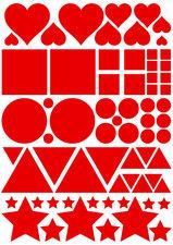 Fietsstickers figuren rood