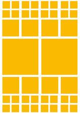 Fietsstickers vierkanten geel