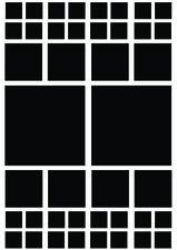 Fietsstickers vierkanten zwart