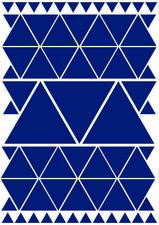 Fietsstickers driehoeken blauw