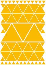 Fietsstickers driehoeken geel