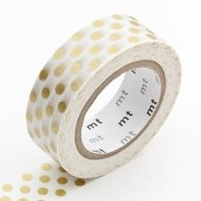 MT Masking tape dot gold 2