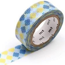 MT Masking tape checkers stripe blue