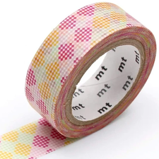 MT Masking tape checkers stripe pink