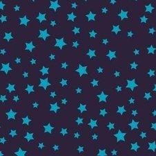 Plakfolie velours sterren blauw (45cm)