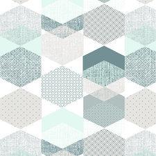 60x140cm Restje tafelzeil polygone blue