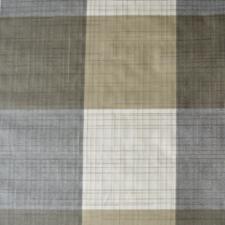 45x140cm Restje wasbaar tafelzeil geblokt wit/grijs/bruin