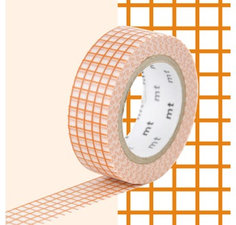 MT Masking tape ruitjes oranje