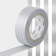 MT Masking tape border silver 2