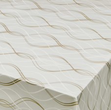 65x140cm Restje tafelzeil waves