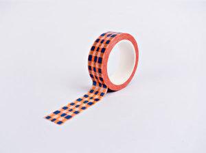 The Completist Masking tape Orange brush check