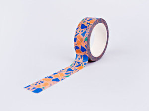 The Completist Masking tape Terrazzo peach