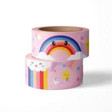 Studio Inktvis Masking tape Wolk regenboog