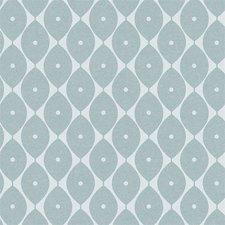 35x140 Restje tafelzeil abstracte ovaaltjes blauw
