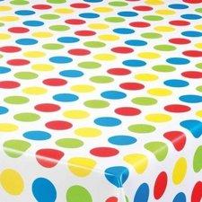 40x140cm Restje tafelzeil grote polkadots gekleurd