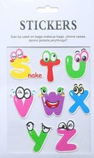 Stickers letters s t/m z