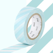 MT Masking tape strepen mint blauw