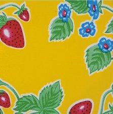 45x120cm Restje Mexicaans tafelzeil aardbei geel