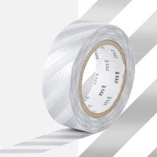 MT Masking tape strepen zilver