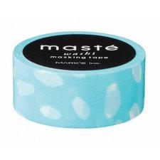 Masking tape Masté hemel blauw met druppels