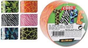 Duct tape giraffe zwart/groen